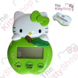 Hello Kitty Die-Cut Digital Kitchen Timer: Green Apple