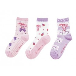 Bonbon Ribbon 3Pairs Socks: 19-21cm Ribbon