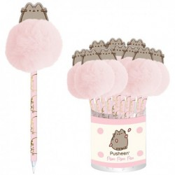 Pusheen Ballpen With 2D Topper & Pom Pom D12