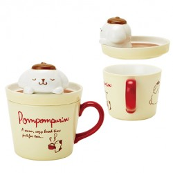 Pompompurin Mug with Lid: Night