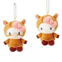 Hello Kitty Key Chain with Mascot: Boar