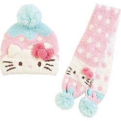 Hello Kitty Knit Cap & Scarf: Dot