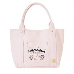Little Twin Stars Canvas Tote Bag: Red Skate