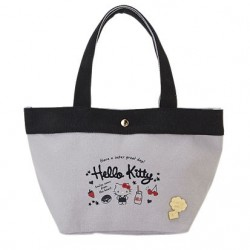 Hello Kitty Canvas Mini Tote Bag: Milk