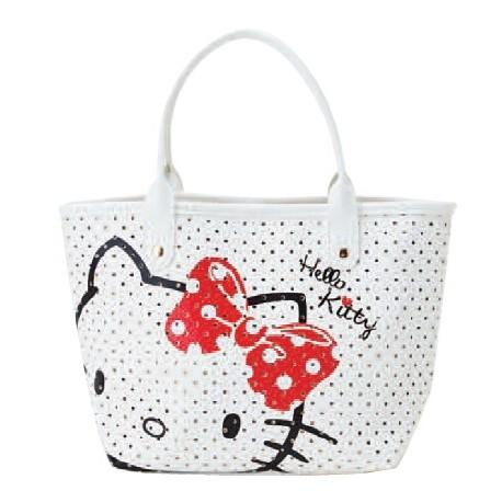 e082f380c Hello Kitty Handbag: Punched W - The Kitty Shop