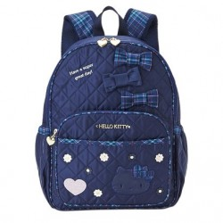 Hello Kitty Backpack: Large Navy Tartan