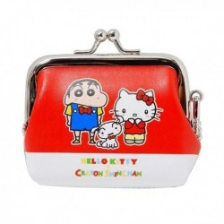 Hello Kitty Coin Purse Red X Crayon Shinchan
