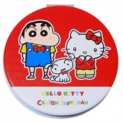 Hello Kitty 2-Side Mirror Round X Crayon Shinchan