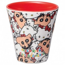 Hello Kitty Melamine Cup X Crayon Shinchan