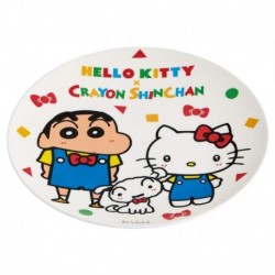 Hello Kitty Plate X Crayon Shinchan