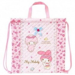 My Melody Quiltd Draw-strng Tote: Rose