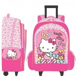 Hello Kitty 16 Inch Trolley Backpack Ribbon