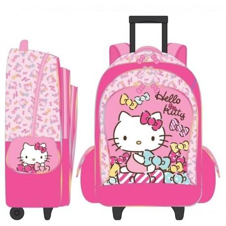 Hello Kitty 16 Inch Trolley Backpack Ribbon