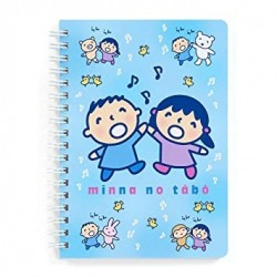 Assorted Characters B6 Ring Notebook: