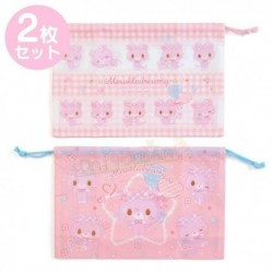 Mewkledreamy 2Pcs Lunch Dstring Bag: