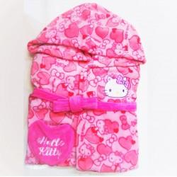 Hello Kitty Bath Robe Adult Heart