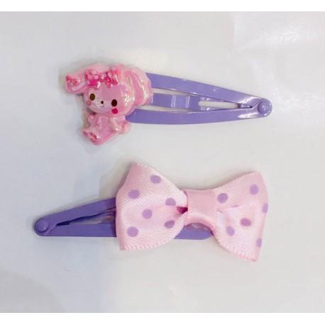 Bonbon Ribbon Hair Clips: Ribbon