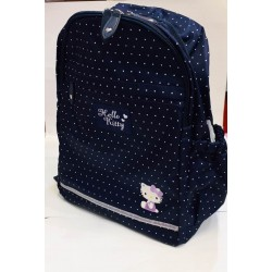 Hello Kitty Backpack: L Navy Dot