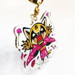 Aggretsuko Key Chain: Flowers