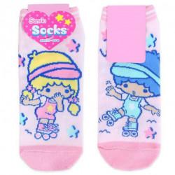 Little Twin Stars Socks: Adult Pink Skate
