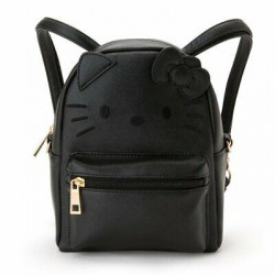 Hello Kitty Mini Backpack Pouch: Black Fce