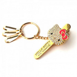 Hello Kitty Bag Key Clip Go Red