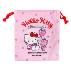 Hello Kitty D-String Bag: Small Strawberry