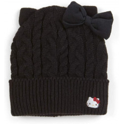 Hello Kitty Knit Cap: Black D-Cut