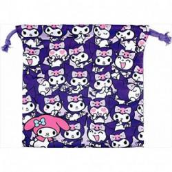 Kuromi Drawstring Bag Purple