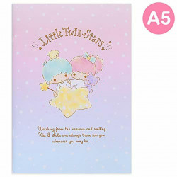 Little Twin Stars A5 Notebook Ruled: