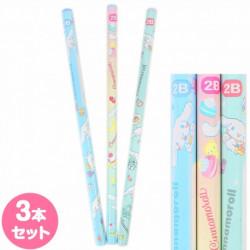 Cinnamoroll 3Pcs Pencil Set: 2B