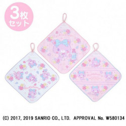 Mewkledreamy Wash Towels with Loop Set: Pink