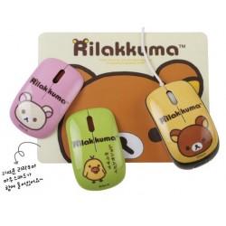 Rilakkuma RK-EMO-02 Mini Mouse with Mouse Pad 3 Characters