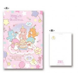 Little Twin Stars Postcard Care Bear B
