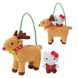 Hello Kitty Plush In Bag: Reindeer 8-Inch