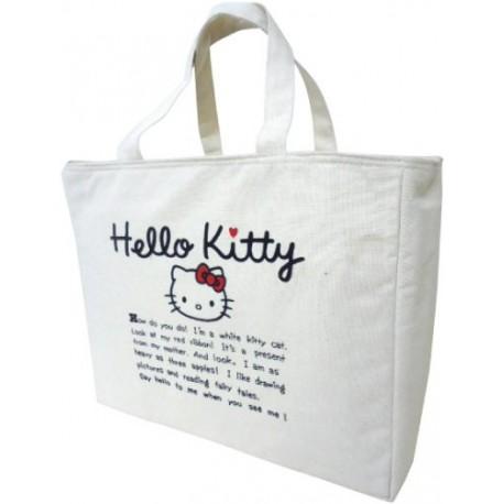 83e45c565da1 Hello Kitty Canvas Insulated Square Tote Bag - The Kitty Shop