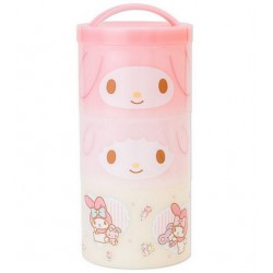 My Melody 3-Tier Lunch Case: P Flower