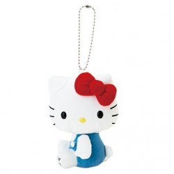 Hello Kitty Key Chain W/Mascot: White