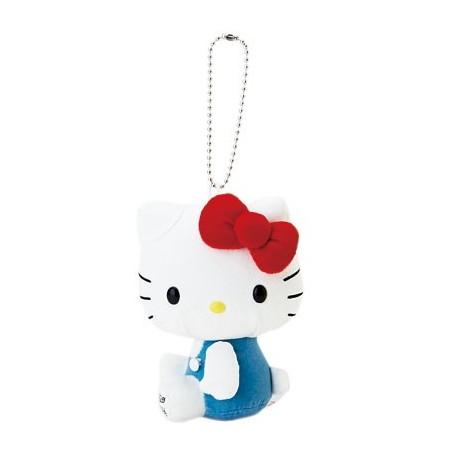 Hello Kitty Key Chain W/Mascot: White