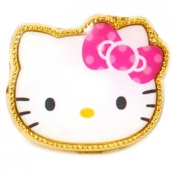 Hello Kitty Ring: P D-Cut Face