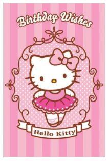 Hello kitty birthday wishes ballerina card the kitty shop m4hsunfo