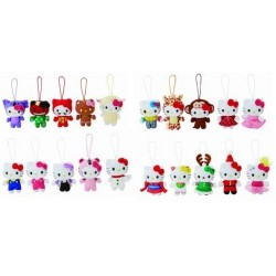 Hello Kitty Mascot Plush Christmas Ornament Ast. 4-Inch