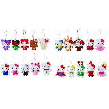 Hello Kitty Mascot Plush Christmas Ornament Ast 4 Inch The Kitty Shop