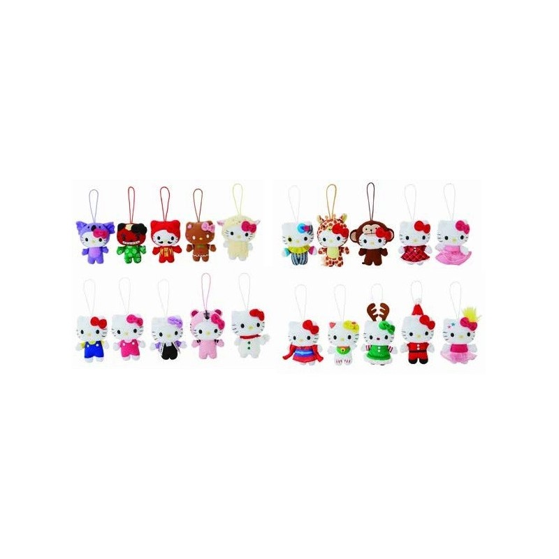 Hello Kitty Christmas Tree.Hello Kitty Mascot Plush Christmas Ornament Ast 4 Inch The