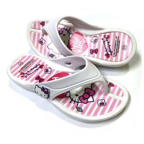 Hello Kitty Flip Flops White