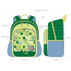 Keroppi Backpack 14-Inch Dot