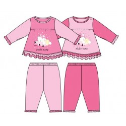 Hello Kitty Baby Girl Pyjamas Pink 0-24Month