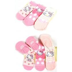 Hello Kitty 3Pairs Socks: 10-12 Ribbon