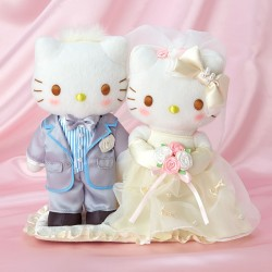 Hello Kitty Plush Set: Pearl Wedding