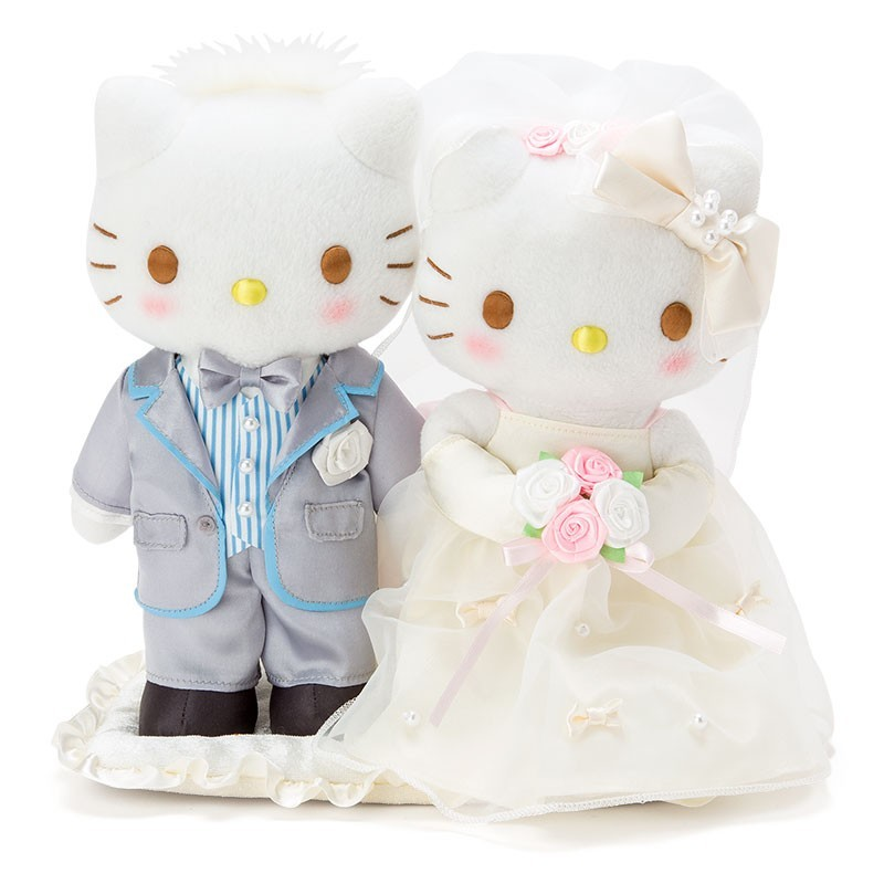 hello kitty plush set  pearl wedding